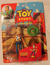 Toy Story Rare 1995 Thinkway Kicking Woody Action Figure!