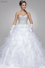 QUINCEANERA MASQUERADE BALL GOWN FORMAL SWEET SIXTEEN PAGEANT PROM DRESS WEDDING