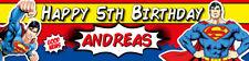 Superman Personalised Birthday Banner Kids Party Idea Hanging Decoration Custom