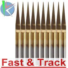 Fresa incisione 10pz 0.1mm 10 gradi Degree PCB Engraving Titanium Coated Carbide