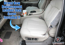 00 01 02 Chevy Suburban Tahoe LT Z71 -Driver Side Bottom Leather Seat Cover Tan