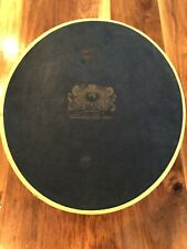Vintage Brooks Brothers Oval Blue Hat Box