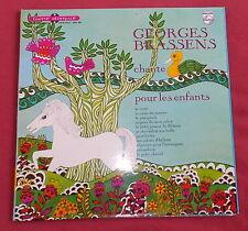 """GEORGES BRASSENS  LP ORIG FR  25 CM 10""""  CHANTE POUR LES ENFANTS"""