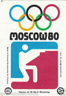 SHOOTING TIR SPORTIF SPORT MOSCOU Moscow Olympic GAMES MATCHBOX LABEL 1980