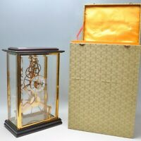 SHANDONG COMPAS CLOCK 24K GOLD COATED  A SUPERB CONTEMPORARY GLASS CASED,  8 DAY