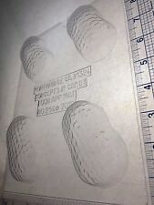 PEANUT BUTTER COOKIE CLEAR PLASTIC CHOCOLATE CANDY MOLD AO256
