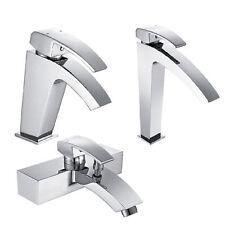 Monobloc Mixer Chrome Wall Mounted Bathroom Taps