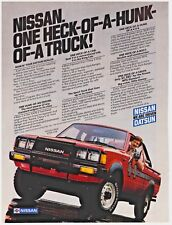 Original 1983 Nissan 4WD King Cab Hunk-of-a-Truck! Print Ad Vintage