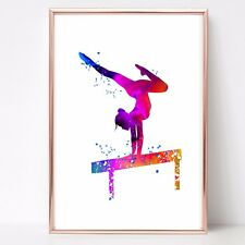 gymnastics dance Watercolor a4  Print wall art picture gift 88 unframed