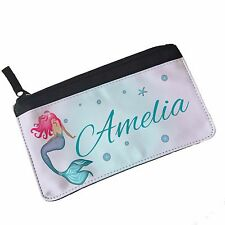 Personalised Mermaid Fabric Pencil Case, Back to School Stationery for kids