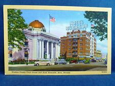 Postcard NV Reno Washoe County Court House & Hotel Riverside