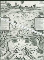 Ingoldstadt - Die Belagerung 1632 - Nach einem Aquarell - Großformat - selten