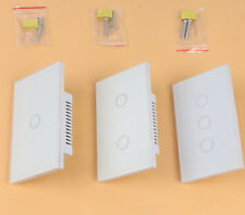 Wifi pantalla táctil inteligente de la Luz Interruptor De Pared 1 Gang Way 1 2 3 Panel de Vidrio Cristal