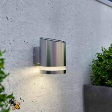 Outdoor Wall Light Solar Powered Stainless Steel Downlight New