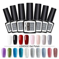 8ml LEMOOC Nagel Gellack Soak off Glitzern Nail Art Gel Polish Gel UV Nagellack
