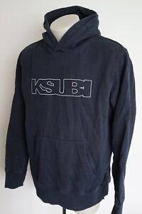 ksubi faded dark blue midweight hooded jumper…size mens large…vgc...