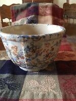 red wing spongeware bowl