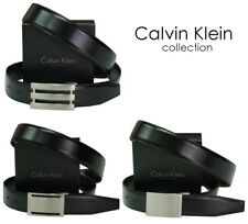 cintura-belt uomo CALVIN KLEIN collection - bicolore nero/marrone