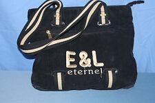 sac shopping ETERNEL E&L  velours noir TBE