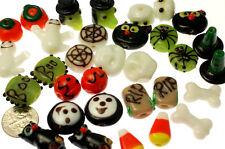 32 Handmade lampwork glass Halloween Beads MIX