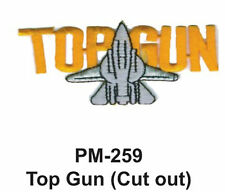 """3"""" TOP GUN( CUT OUT) Embroidered Military Patch"""