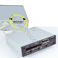 3.5 INTERNAL CARD READER USB 2.0 SD SDHC MMS XD M2 CF W/ POWER 4 PORT HUB
