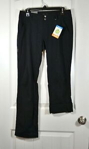NWT WOMEN'S COLUMBIA BLACK SATURDAY TRAIL PANTS STRAIGHT LEG ACTIVE FIT SZ 4, 8