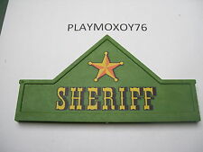 PLAYMOBIL. TIENDA PLAYMOXOY76.LETRERO DE LA OFICINA DEL SHERIFF DE LA REF.3786