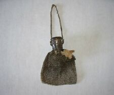 Vintage Silver Chain Mail Purse/Bag with Gate/Accordion Style Opening