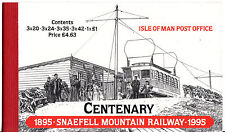 ISLE OF MAN 1995 SNAEFELL MOUNTAIN RAILWAY, BOOKLET AT FACE VALUE