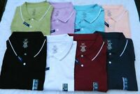 Men's George No Roll Stretch Pique Polo Shirt - Various Sizes and Colors - New