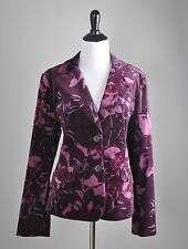 ANN TAYLOR NWT $128 Velvet Floral Lined Two Button Dressy Jacket Top Size 12