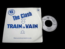 "THE CLASH/TRAIN IN VAIN/RARE PUNK CBS PRO 43/PERFECT PROMO FRENCH PRESS 7"" SP"