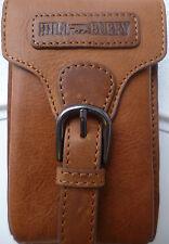 Gürteltasche Hüfttasche Vintage Bikertasche Smartphone Outdoor Leder braun NEU