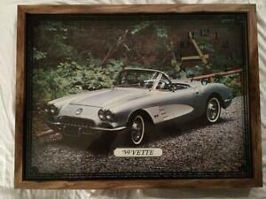 Collectable 1959 Corvette Wall Clock. '59 'Vette
