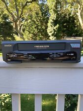 Samtron Sv-C40 Home Vcr Vhs Player Recorder 4 Head High Speed Rewind Tested