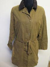 Ladies Barbour L1700 Newmarket Mac Waxed Cotton Coat Jacket UK 14 Euro 40 -Brown