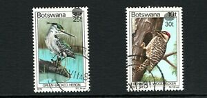 1981 Botswana Birds surcharge,overprinted set of 2 used