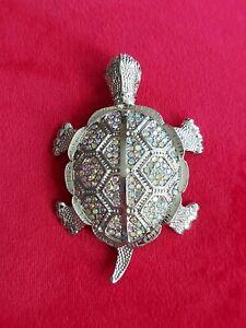 Large Sea Turtle Brooch or pendant