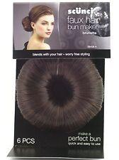 Scunci Faux Hair Bun Maker - Brunette