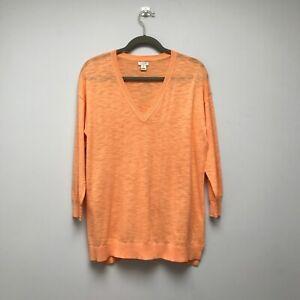 J Crew - Orange 100% Cotton Sweater/Pullover - Size M