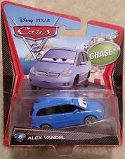 Disney Pixar Cars 2 • Chase #44 Alex Vandel BENT CARDBACK • 2012 Porto Corsa