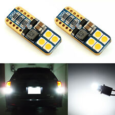 JDM ASTAR 2x 921 912 T10 T15 3030 SMD LED 6000K White Backup Reverse Lights Bulb