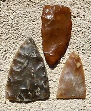 Lot Of 3 Florida Artifacts Arrowhead Spear Point Indian Native American Coral