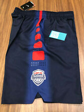 2016 NIKE USA OLYMPIC BASKETBALL SHORTS NAVY BLUE RED WHITE POCKETS DREAM TEAM L