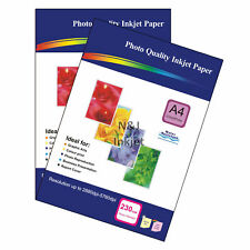100 Sheets of A4 230gsm High Quality Glossy Photo Paper for Inkjet Printers