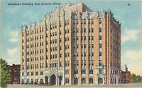 Linen Postcard AH B794 Telephone Building San Antonio Texas Gulf Breezes TX