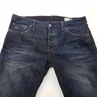 G-Star Raw 3301 Mens Jeans W35 L32 Dark Blue Regular Fit Bootcut Mid Rise