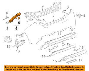 Chevrolet GM OEM 13-15 Spark Rear Bumper-Side Retainer Bracket Left 96686881