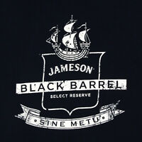 JAMESON Black Barrel Naticual Ship Irish Whisky Men's T-Shirt Tee size L/XL